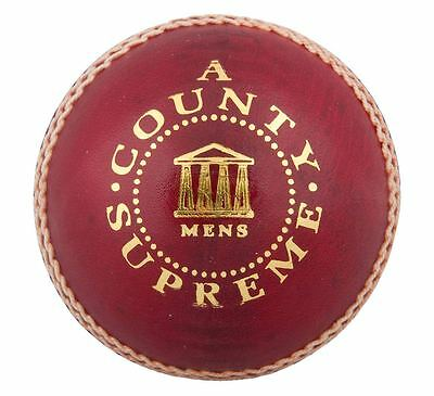 6x Readers County Supreme 'A' Mens Leather Red Cricket Balls Size 5.5oz