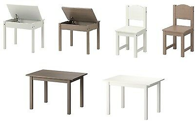 Ikea Nursery Home Kids SUNDVIK Children's table,desk &Childrens Wooden Chair New