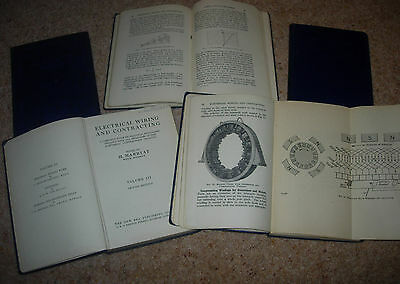 Electrical Wiring and Contracting, Volumes 2 - 6 -  by H Marryat 1930's HB's