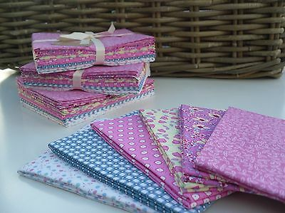 Fat Quarters - Pastel Patchwork Pink 100% Cotton - Craft Sewing Quilting