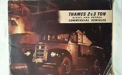 FORD THAMES 2 & 3 TON Commercial Vehicles Sales Brochure June 1955 #R699/655