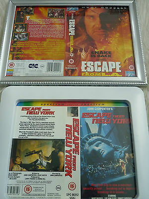 Escape from new york & LA Framed vhs sleeves Kurt & Poster B Movies Photo Dvd