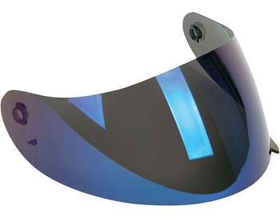 Motorcycle Visor Helmet Lens Face Shield For AGV K3 K4 K4-EVO Iridium Blue
