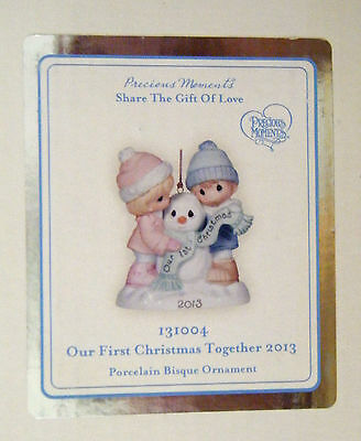 Precious Moments Figurine 'our First Christmas Together' Ornament 2013 #131004