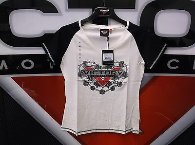 Victory Large Women's Antique White/Black Roses Tee MP#286618806