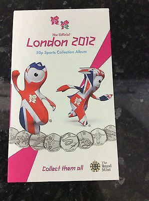Official London 2012 Olympic 50p Album Collection (all 29 coins, no medallion)