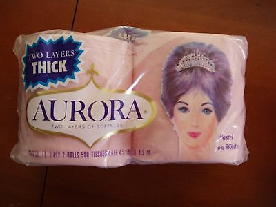 Vintage Aurora Pink Toilet Paper 2 pack NOS Old Store Movie Prop price mark .29