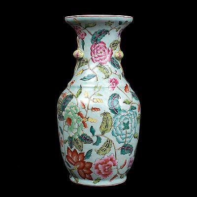 China 20. Jh. Fencai - A Chinese 'Canton Style' Porcelain Vase - Chinois Cinese