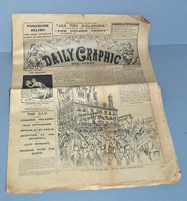 Old Newspaper ' The Daily Graphic ' London Oct 30th 1900. Boer War
