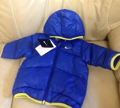 Baby Boy Hooded Jacket Nike Padded 6- 9 MONTHS 70-75CM