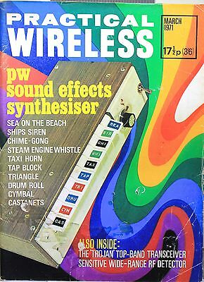 Practical Wireless March 1971 -Sound effects synthesiser - Top Band transceiver