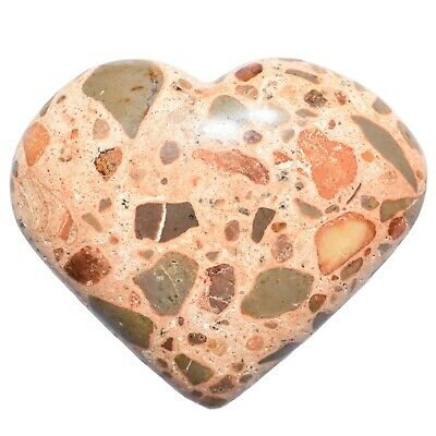 [1] MD Leopardskin Jasper Crystal Puffy Heart / Palm Stone Reiki ZENERGY GEMS™