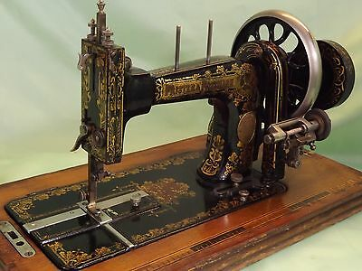 Antique Frister and Rossman Sewing Machine & Case (1896-1914) Superbly Detailed