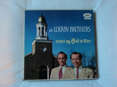 LOUVIN BROTHERS - Nearer My God To Thee - LP record Capitol records T825 EX / EX