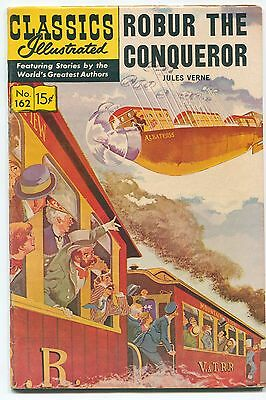 """CLASSICS ILLUSTRATED #162 """"Robur the Conqueror"""", by Jules Verne / HRN 167 / 1964"""