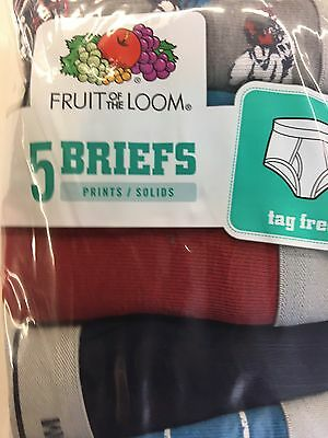 FRUIT OF THE LOOM BOYS BRIEFS M Size-10-12 ALL SEASONS MULTI COLOR ...