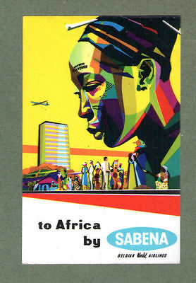 Airline luggage label Baggage Label SABENA to Africa *** #366