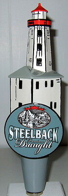 Steelback Draught Lighthouse 2-Side Beer Tap Handle (New)