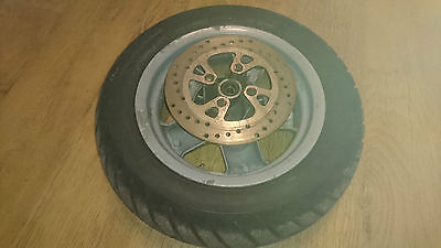 Mbk 125 Doodo Yamaha Teos 125 2003 Front Wheel With Brake Disc And Tyre Pirelli