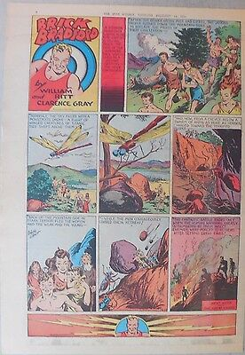 Brick Bradford Sunday by Ritt and Gray from 12/13/1941 Tabloid Size Page! Rare!