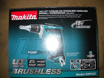 Makita XSF03Z 18V Lithium-Ion Brushless Cordless Drywall Screwdriver NEW Tool