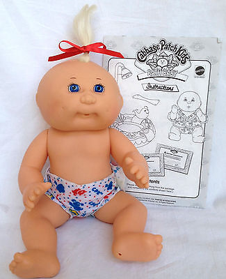 "Mattel First Edition 1995 Cabbage Patch Kids 11"" Bath Baby & Instructions"