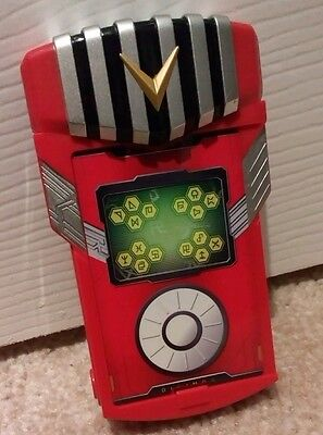 Digimon Red Fusion Loader Digivice Battle Electronic Game Sounds Work *FREE P&P*
