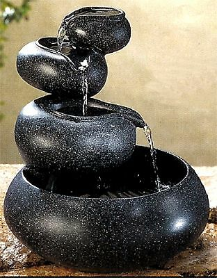 Popular ** GRANITE FOUR-TIER TABLETOP FOUNTAIN ** 4 BOWLS CASCADING WATER ** NIB