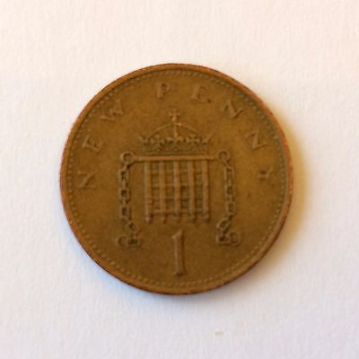 Decimal British 1p one penny coin 1971-1999 (Choice of year)