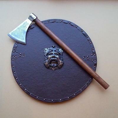 rep  Celtic Knot Pattern Dragons Head Axe Perfect For The Re-enactor / Viking
