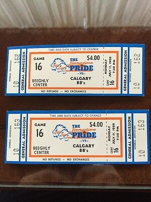 (2) Youngstown Pride vs Calgary 88's World Basketball League 1988 Full Ticket