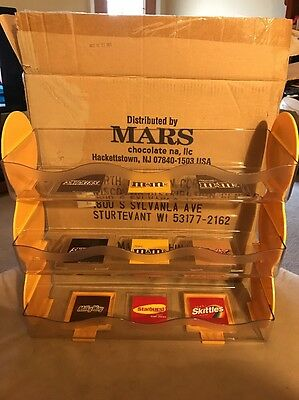 M&M Mars Retail Advertising Store Candy Counter Display Shelf Unit Rack 3 Tier