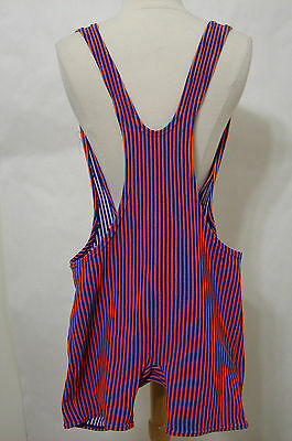 Vintage SUN-DEK Union Label Rare Men's One Piece Striped Swim Suit 28-38