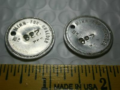 Minnesota Fur Breeder Tokens Coins Tags Collectibles Lot of 2