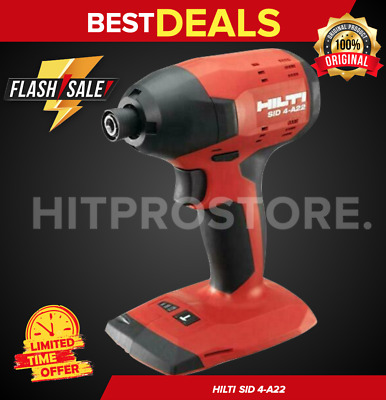 Hilti Sid 4-A22 Cordless Impact Drill Driver, New Model, Compact Set, Fast Ship