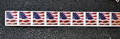 2017USA Forever U.S. Flag US - PNC Plate Number (#P1111) Coil Strip of 9 (APU)