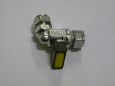 "3//8/"" x 10mm Metrogas Mini Lever Gas Ball Valve PACK OF 2"