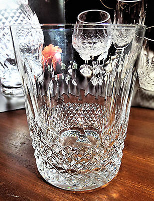"""WATERFORD CRYSTAL COLLEEN  WHISKY 12 ozs DOUBLE OLD FASHIONED GLASSES 4 3/8"""""""