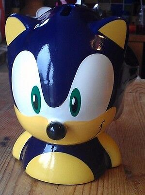Ceramic SEGA SONIC THE HEDGEHOG Kinnerton Moneybox Piggy bank Vintage