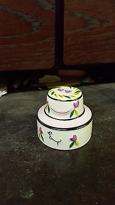 Lorna Bailey WEDDING CAKE signed in blue ltd Edn Excellent Condition FREE P&P