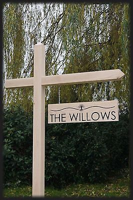 Custom Engraved Oak Wooden Gallows Hanging Sign for House Drive Farm Business