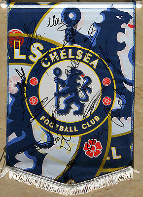 Chelsea autographs 2014/15 (x17) Signed Chelsea pennant - Genuine Signatures