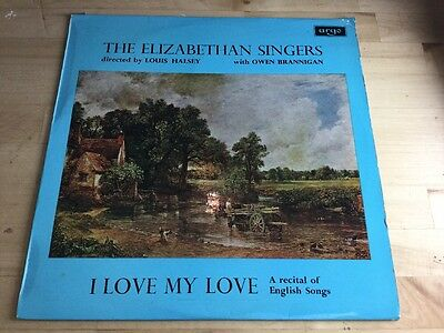 ZRG 5496 I Love My Love / The Elizabethan Singers -Lp - Excellent.1966 Argo