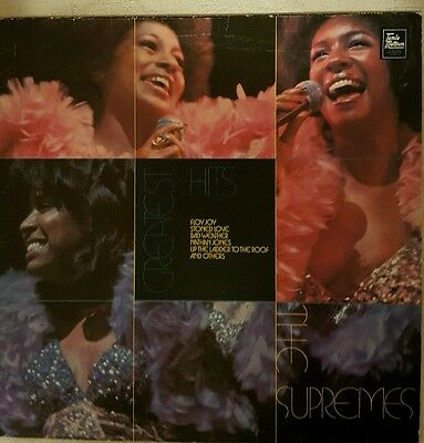 """The Supremes - Greatest Hits - 12"""" Vinyl Record LP - 1970's Soul Motown"""