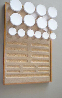 Wood Bead Board Jewelry Making Craft SEED Beading Design Deluxe Organizer Tray