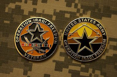 Challenge Coin NEW US Army Operation Iraqi Freedom Veteran - New Listing