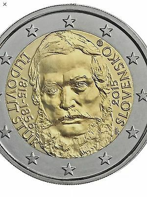Slovakia 2 Euro Coin 2015 Commemorative Ludovic Stur New BUNC from Roll