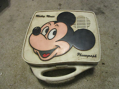 Mickey Mouse phonograph record player portable