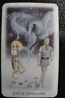 Five of Pentacles Celtic Dragon Tarot Single Replacement Card Excellent