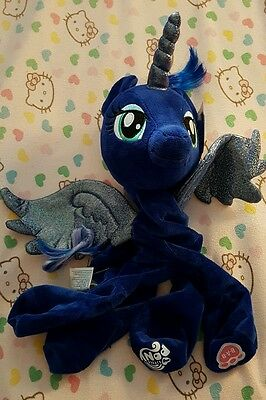 """build a bear my little pony Luna Unstuffed horse 16"""" Child Toy Doll Collection"""